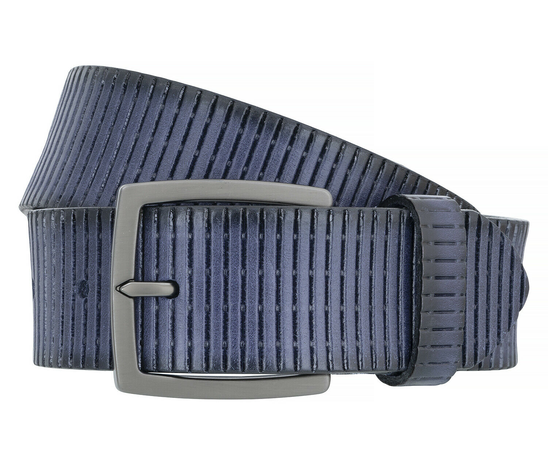 Alberto Men's Belt Belt Leather Belt Blue 8759