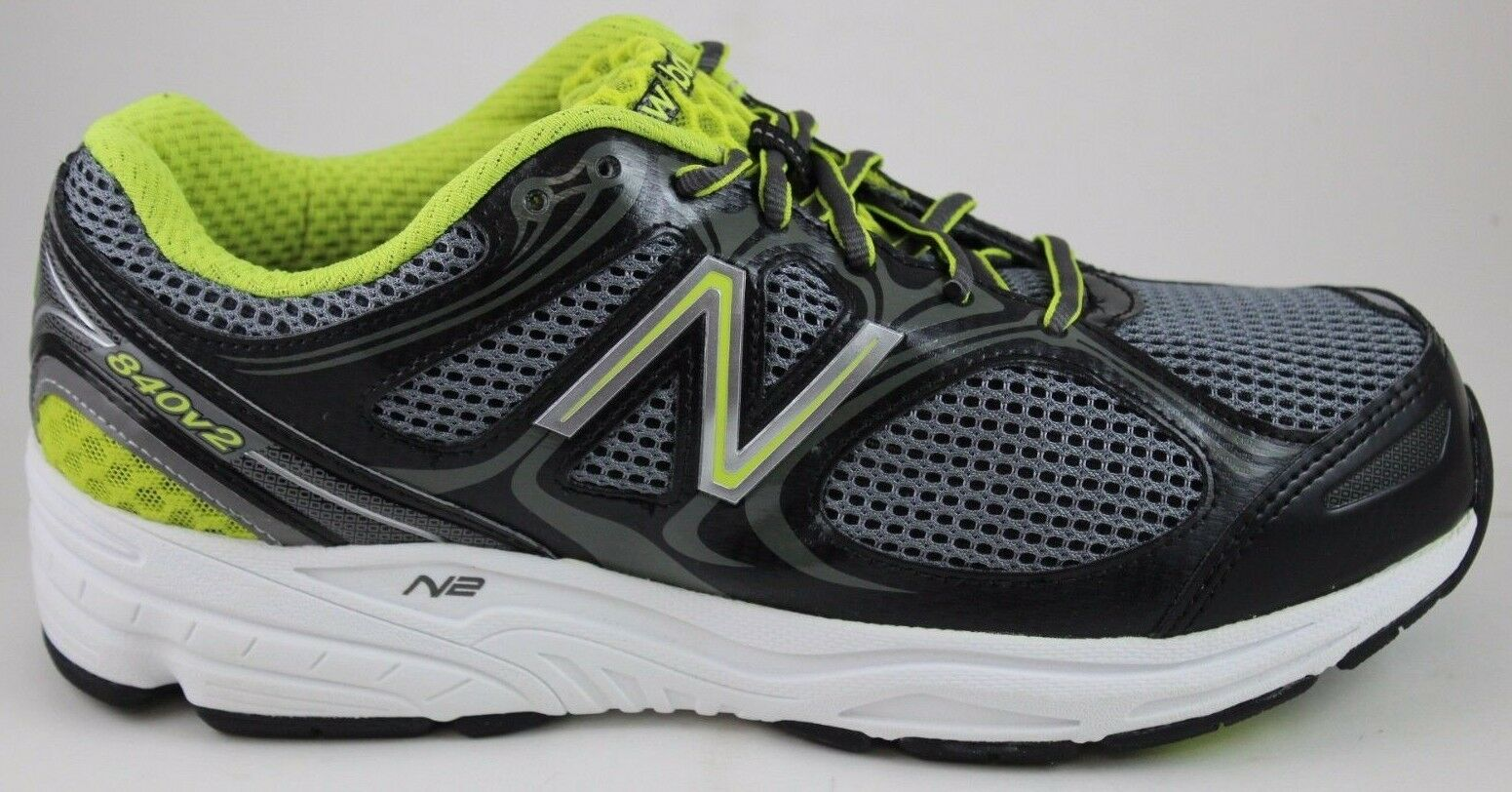 New Balance da Uomo Running 840 v2 M840BG2 Nero/Grigio/Verde Nuove in Scatola