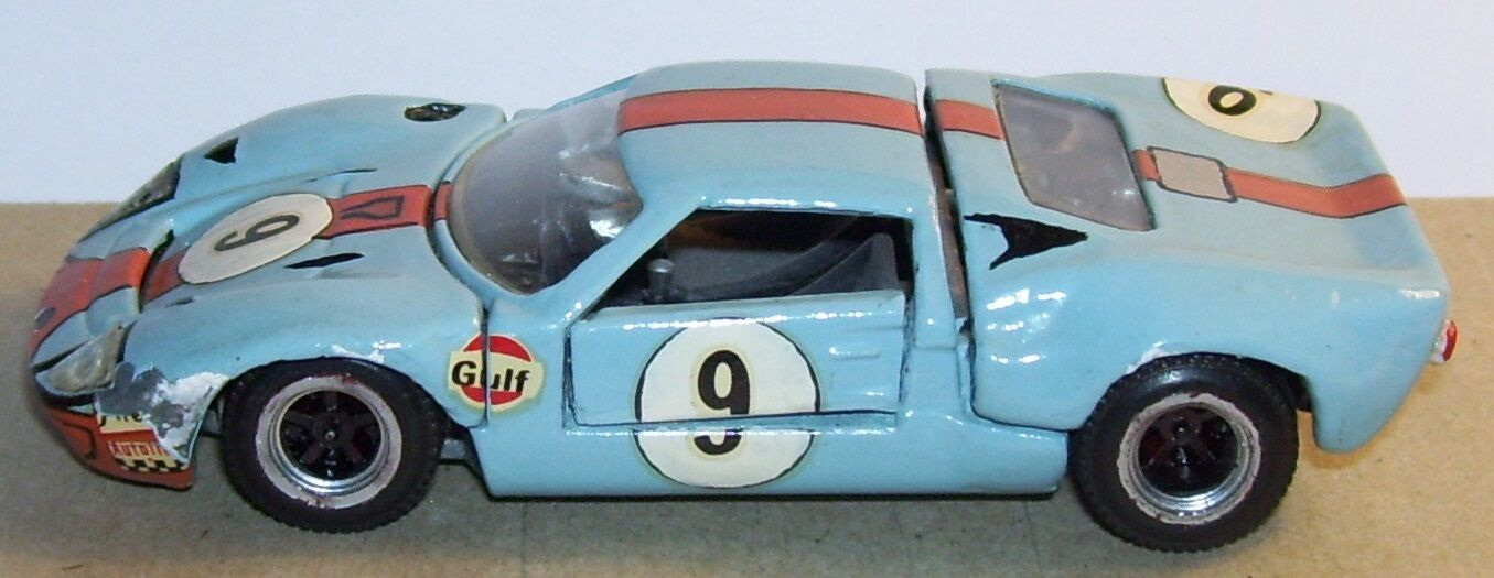 RARE MEBETOYS HOT WHEELS MATTEL 1 43 MADE IN ITALY 1970 FORD GT MARK II REF 6607