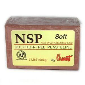 Chavant-NSP-Soft-Brown-Sculpting-and-Modeling-Clay-1-4-Case