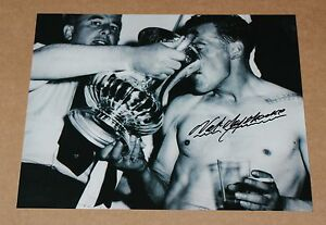 NAT-LOFTHOUSE-Bolton-Wanderers-FA-Cup-HAND-SIGNED-Autograph-10-034-X-8-034-Photo-COA