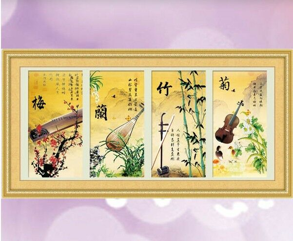 "*""Four Seasons"" -- 5D Precision 12CT Printed Cross Stitch Kit (Box) --145cm*66cm"