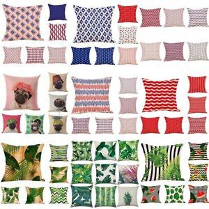 Geometric-Tropical-Linen-Pillow-Case-Waist-Throw-Cushion-Cover-Home-Car-Decor