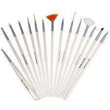 TRIXES 15X Nail Art Design Brush Set Painting Pen Polish Tips New