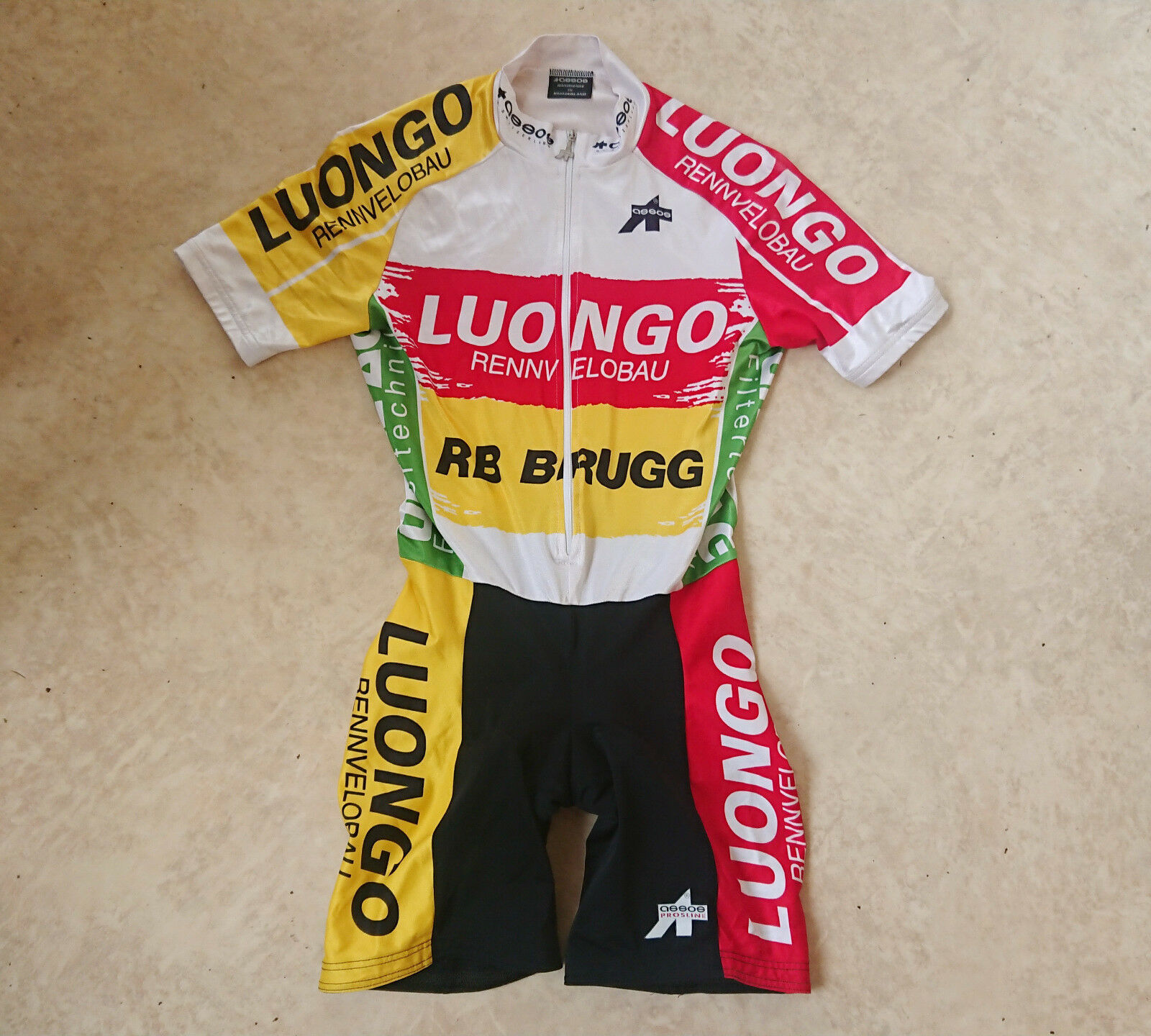 ASSOS Prosline Team Luongo Rennvelobau Cycling Suite Jersey Shorts Size M