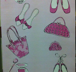 Image Is Loading Pink S Bedroom Nursery Cute Shoes Make Up
