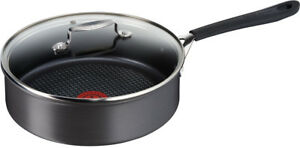 Jamie-Oliver-by-Tefal-Hard-Anodised-24cm-Sautepan-amp-Lid-Non-Stick-Induction