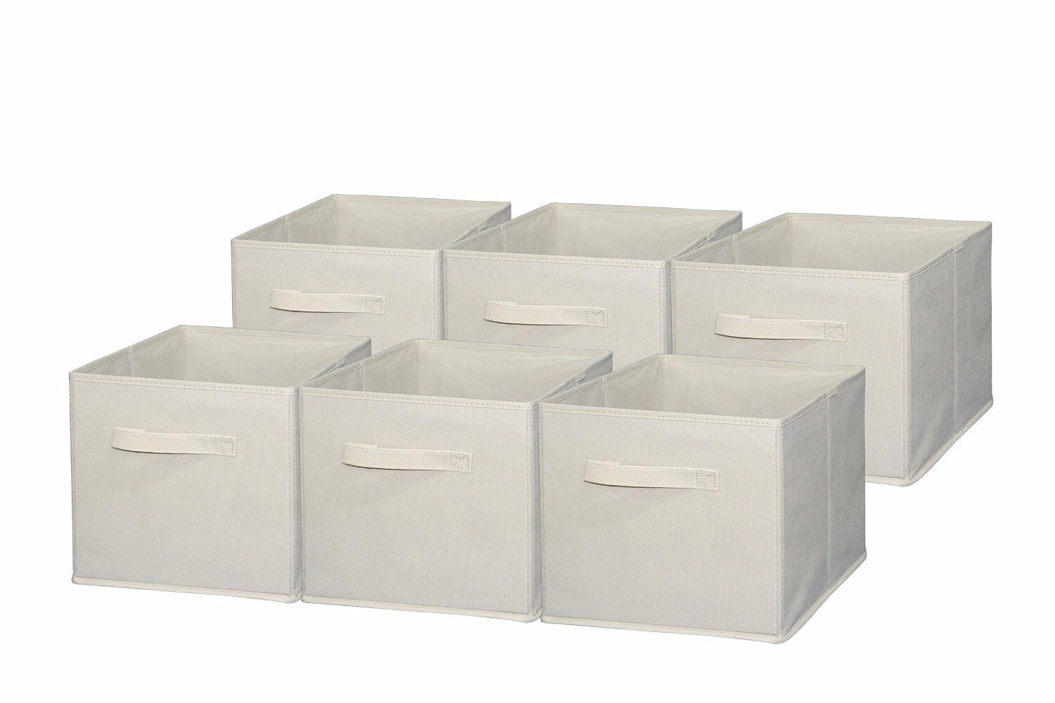 Foldable Cloth Storage Cube Basket Bins Organizer Containers Drawers 6 Pieces