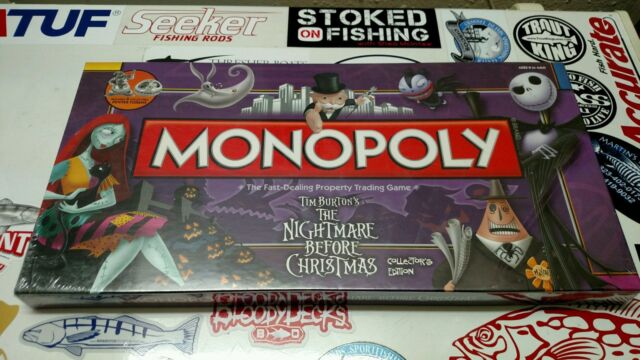 brand new factory sealed nightmare before christmas monopoly board game - Nightmare Before Christmas Board Game