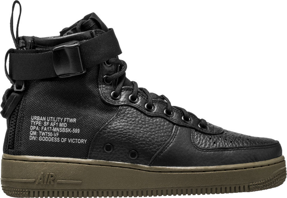 2017 Nike Air Force 1 SF AF1 Mid 13 SZ 13 Mid Black Gum Special Field 917753-002 4a3b78