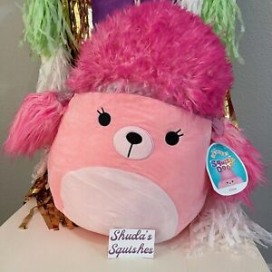 """Chloe the Pink Poodle 14"""" Squish-Doo Squishmallow ♡ BNWT HTF"""