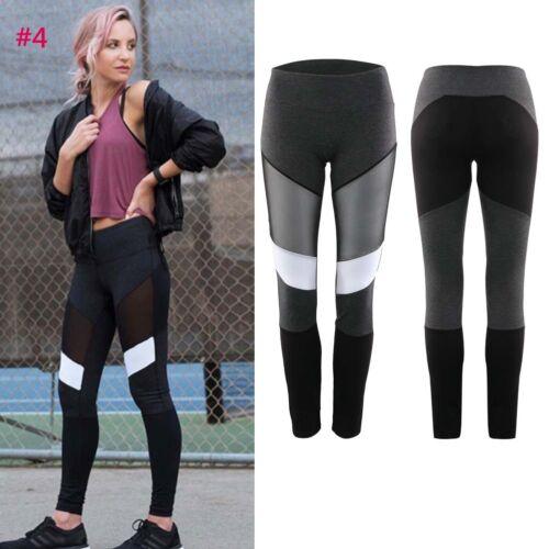 Damen Sport Leggings Hose Training Laufhose Fitnesshose Yoga Gym Jogging Tights