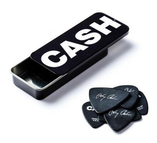 Dunlop Johnny Cash Pick Tin mit 6 Plektren mit verschiedenen Motiven