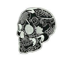 Patch toppe toppa ricamate biker skull teschio pirati pirata moto fiamme r4