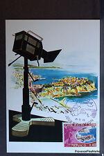 FESTIVAL TELEVISION  1970 CARTE MAXIMUM MONACO Premier Jour 1° FDC  Yt 807
