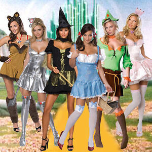 Adult-Movie-The-Wizard-of-OZ-Dorothy-Witch-Cowardly-Lion-Tin-Scarecrow-Costume