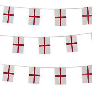 England-Rugby-Bunting-St-George-Cross-Large-Flag-6-Nations-Football-10m-Long