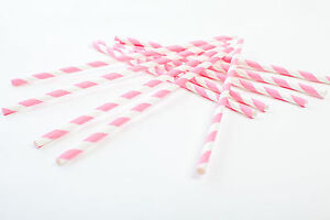 30-Pink-and-White-Straws-Party-Straws-Drinking-Straws-Paper-Straws