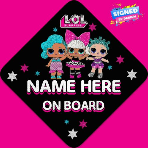 Personalised Baby//Child On Board Car Sign L3