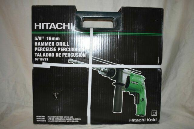 HITACHI DV16VSS 1//2 inch Electric Corded Hammer Drill 5.4 Amp VSR 2-Mode
