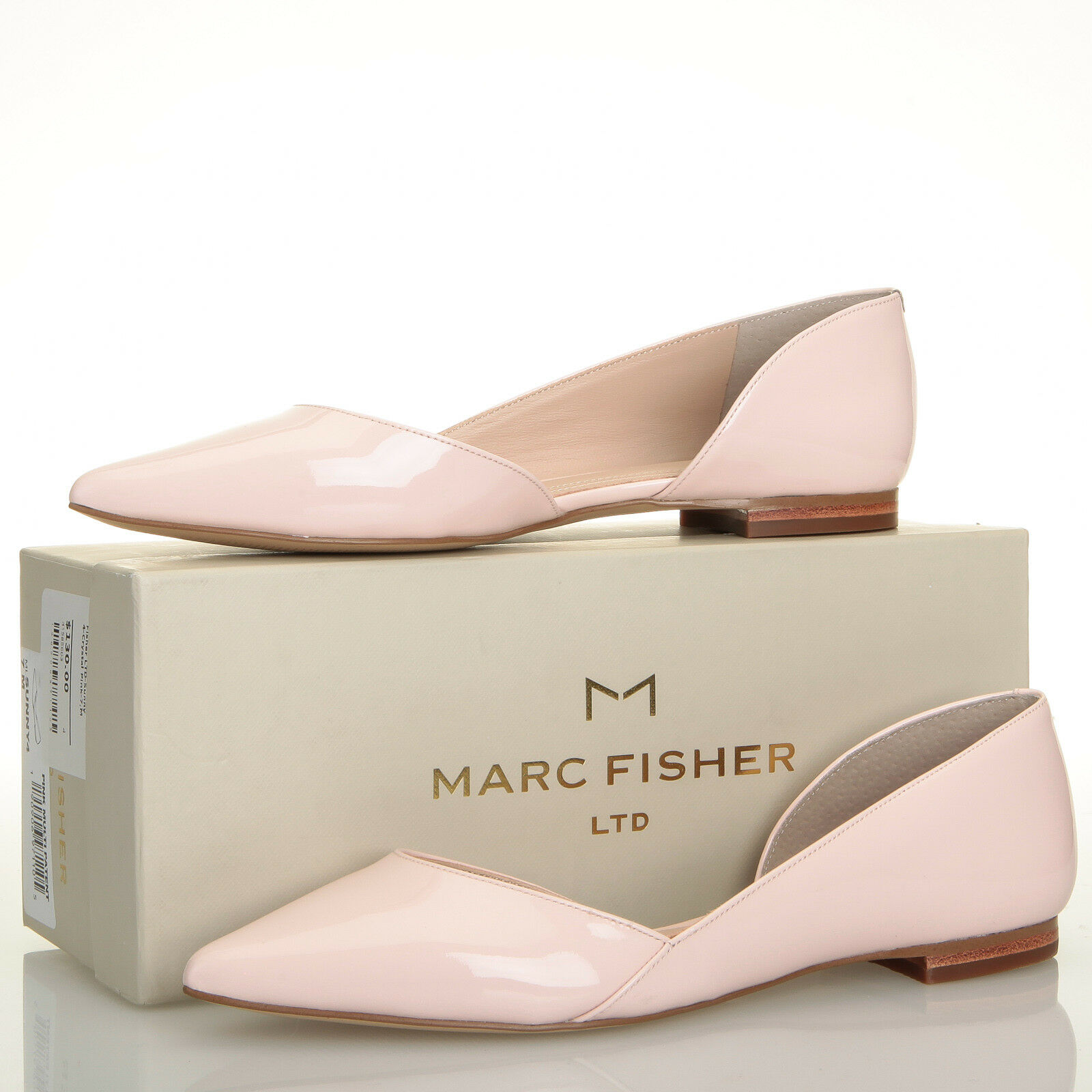 Marc Fisher LTD Sunny 4 Light Pink Patent Pointed Toe Flats - Size 7 M