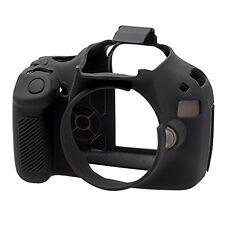 easyCover Pro Silicone Skin Camera Armor Case to fit Canon EOS 1100D DSLR Black