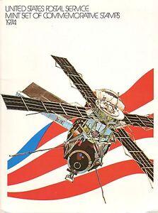1974 USPS COMMEMORATIVE YEAR SET WITH ORIGINAL FOLDER. (5) SETS. BCV $87.50