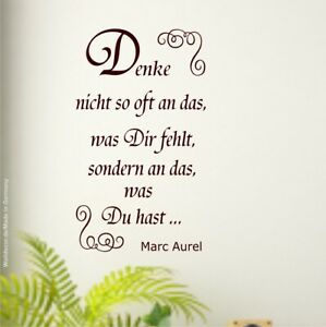 Wandtattoo-Denke-nicht-so-oft-an-das-was-dir-Z046b-70x37cm-Marc-Aurel-Sprueche