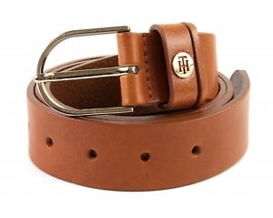 TOMMY-HILFIGER-Classic-Belt-3-5-W90-Dark-Tan