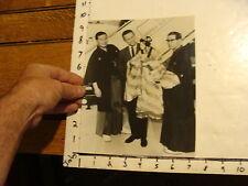 Vintage MARIONETTE & PUPPET Photo: MAN W/ GEISHA PUPPET NEXT TO JAPAN AIR LINES