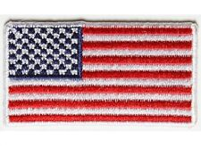 """(G13) 2"""" x 1.1"""" MINI US FLAG with WHITE Border iron on patch (4935) Cap Hat"""