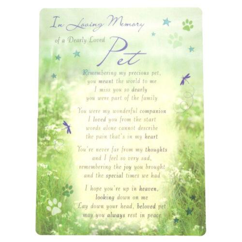 Dearly Loved Pet In Loving Memory Open Graveside Memorial Card