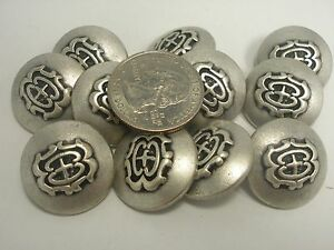 NEW LOT OF 25 SILVER COLOR 13//16 INCH SHANK BUTTONS