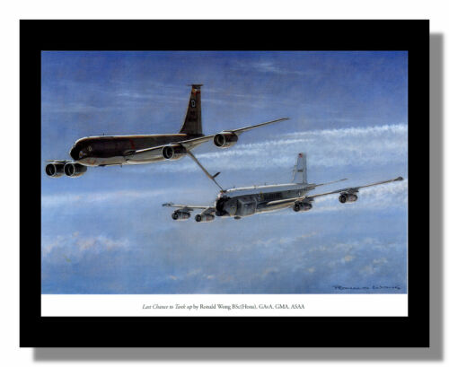 Boeing KC-135 Stratotanker refueling framed picture Ronald Wong free p/&p UK