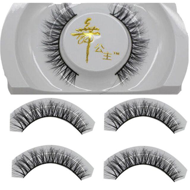 Extension Cross Fake Charming Long False Eyelashes Eye Lashes Makeup Horsehair