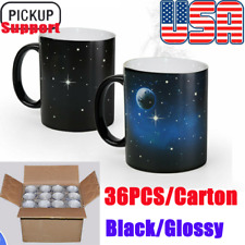Us 11oz Blank Sublimation Mug Magic Full Color Changing Cup Blackglossy
