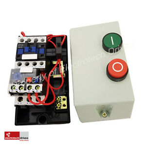 Electric Motor Dol Starter 240v Or 415v Pre Wired Contactor And Overload Fitted Ebay