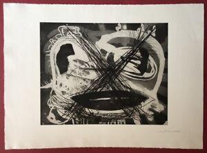 Arne-Bernd rhaue, cieco, acquaforte, 1988, a mano firmata e datata