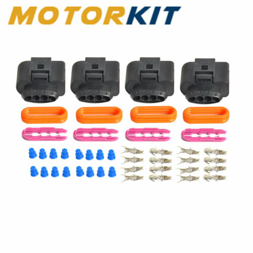 4 Set Ignition Coil Wiring Harness Connector Repair Kit Fits Volkswagen VW Audi