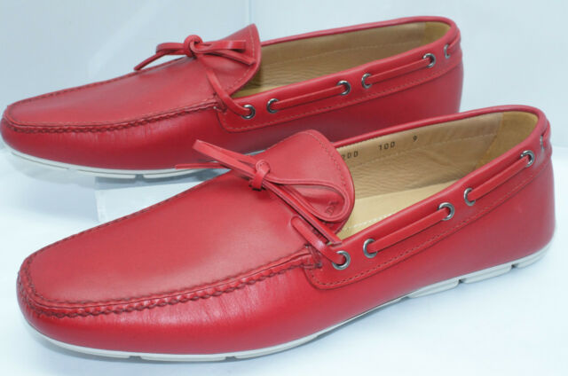 651506bda81 ... norway new prada mens red shoes loafers calzature uomo drivers size 10  slip ons leather e23f5