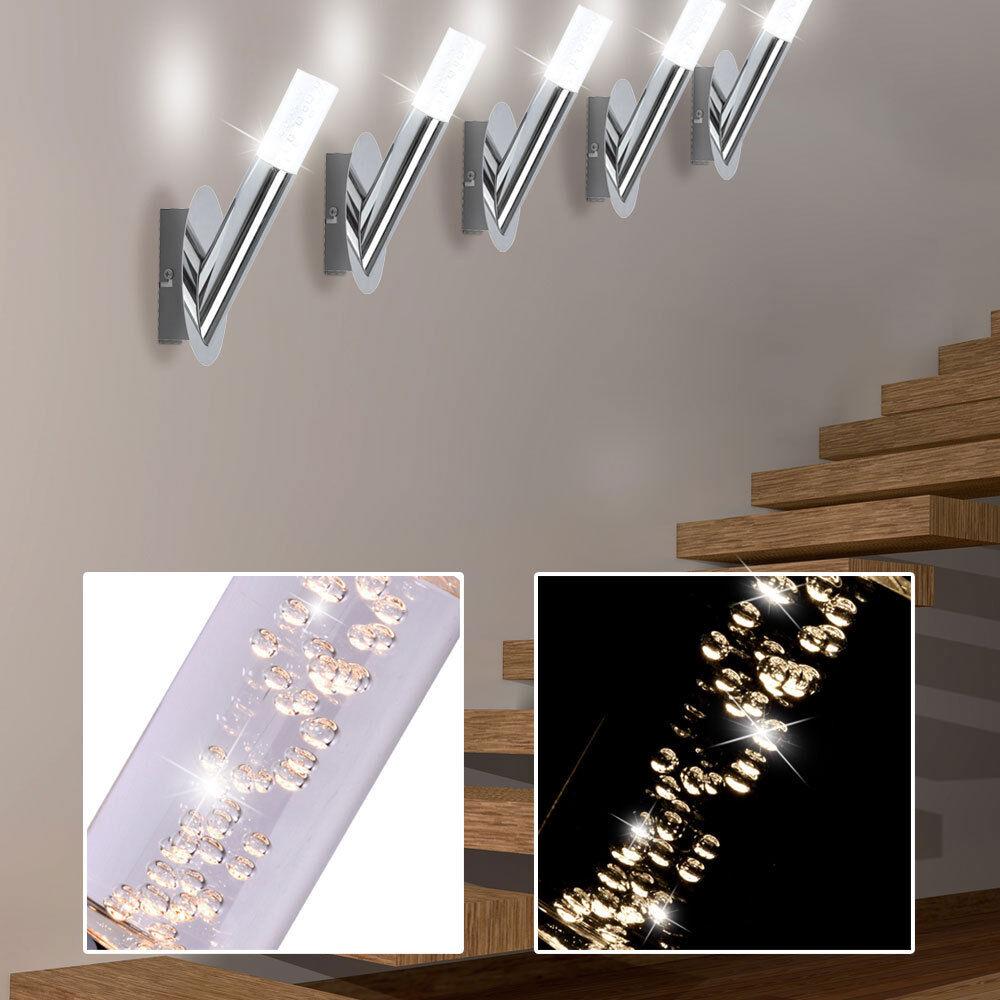 5er 5er 5er Set LED Parete Faretto Luci BOLLE D'ARIA CROMO energia SPAR Big LIGHT 524c61