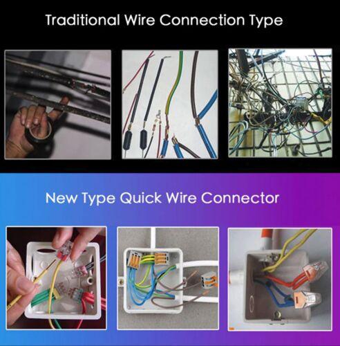 3 Way 32 A universelle Bornier fils électriques Connecteur Boîte de 10,20,50 en vrac