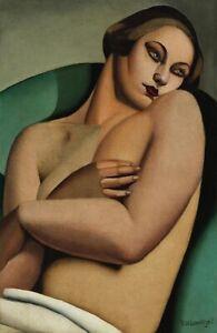 Tamara De Lempicka : Backless Nude : 1930s : Archival Quality Art Print