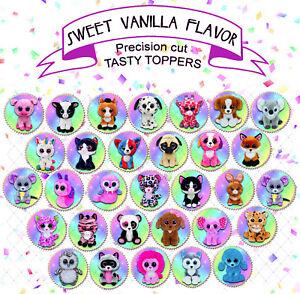 Beanie Boo Plush Toy Rainbow Unicorn Birthday Party topper ...