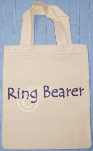 RING BEARER COTTON GIFT GOODY BAG Wedding Favour