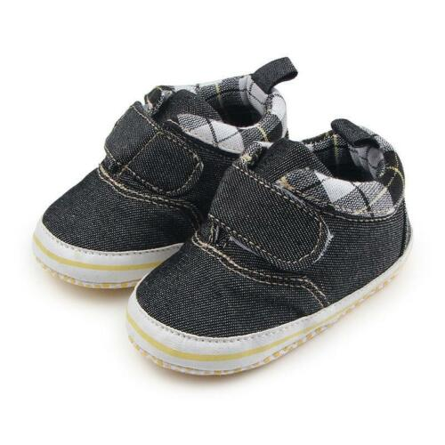 0-18M Newborn Infant Baby Boy Girl Soft Crib Shoes Moccasin Prewalker Sneakers