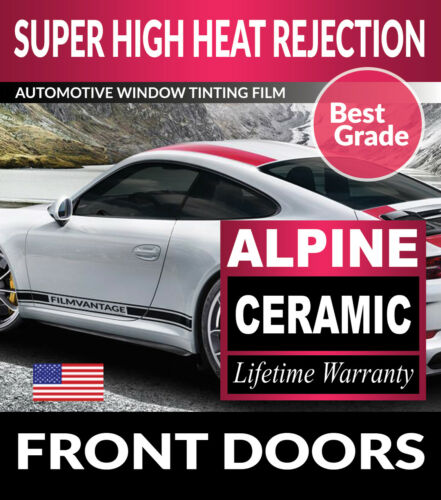 ALPINE PRECUT FRONT DOORS WINDOW TINT FILM FOR GMC SIERRA 1500 DOUBLE 19-20