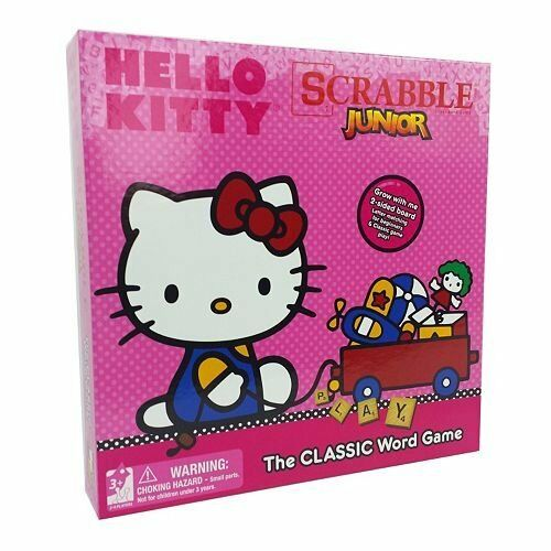Hasbro Hello Kitty Scrabble Jr The Classic Board Game 2 Sided