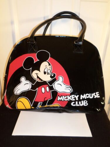 Mickey Mouse Tote Bag   Faux Patent Leather-Mickey