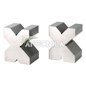 Paar Über Prism Boden Für Messwerte Mechaniken Fervi P200/1 75x75x60 MM